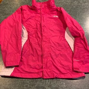 North Face Pink Hyvent Jacket Girls Large (14-16)